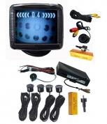 "Парктроник система с 3.5"" LCD дисплей, камера с IR и 4 датчика NB-735SC4"