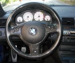 BMW E46 Upper and lower steering wheel in carbon - 0133V009