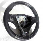 BMW E90, E91, E92, E93 Upper and lower steering wheel in carbon - 0133V009