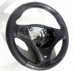 BMW E90, E91, E92, E93 Upper and lower steering wheel in carbon - 0133V009