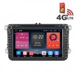 Навигация / Мултимедия с Android 6.0 и 4G/LTE за VW Golf, Passat, Tiguan, Touran, EOS, Caddy, Jetta и други DD-K7241