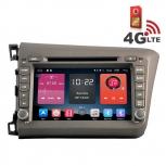 Навигация / Мултимедия с Android 6.0 и 4G/LTE за Honda Civic 2012 DD-K7305