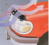 Ветробран за преден капак за Kia Sorento 2002[E018021]