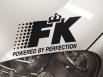 Стикер за преден капак FK Version 1 - черен[FKWE601]